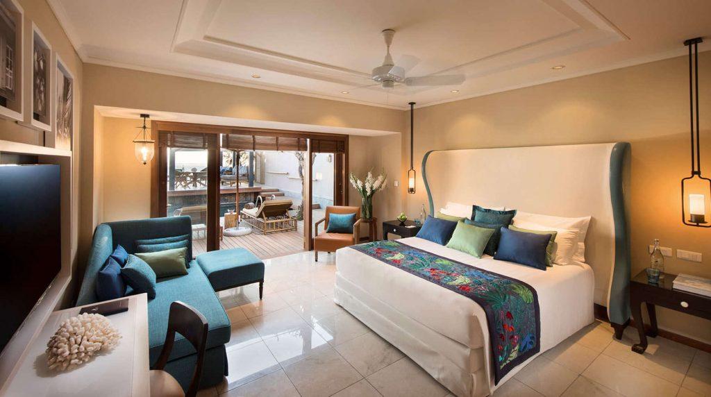 Das luxuriöse Schlafzimmer der Presidential Villa